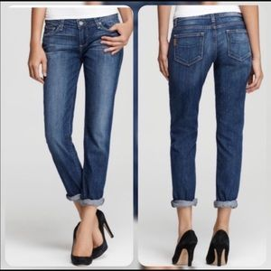 Paige Jimmy Jimmy Skinny Washed Blue Denim Jeans